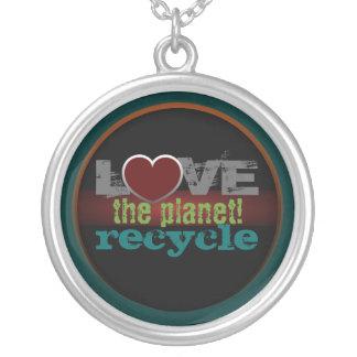 惑星のリサイクルのネックレスを愛して下さい ペンダント