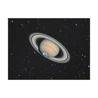 惑星の土星の星明かりの空のキャンバスプリントのプリント キャンバスプリント