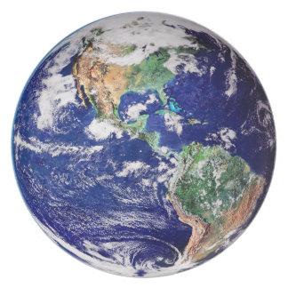 惑星の地球のメラミン プレート