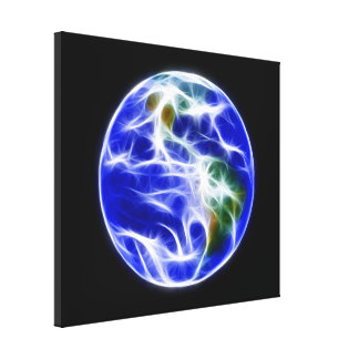 惑星の地球の世界の地球 キャンバスプリント