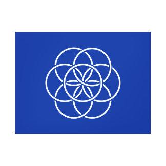 惑星の地球の旗 キャンバスプリント