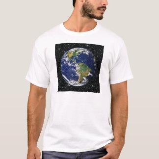 惑星の地球の星の背景(太陽系)の~ Tシャツ