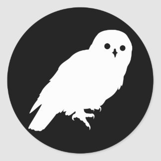 惑星の地球の最も素晴らしく白いフクロウ ラウンドシール