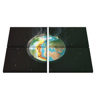 惑星の地球の構造プレート キャンバスプリント