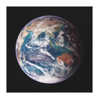 惑星の地球の青の大理石 キャンバスプリント
