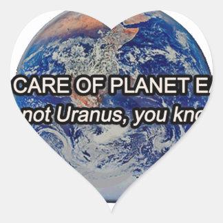 惑星の地球を大事にして下さい! それは天王星…ではないです ハートシール