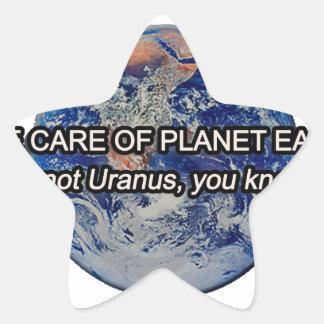 惑星の地球を大事にして下さい! それは天王星…ではないです 星シール