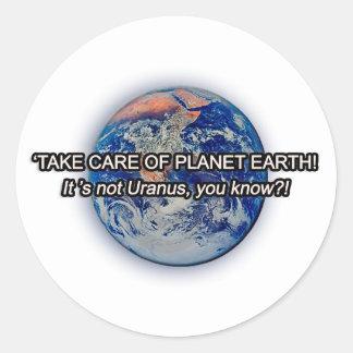 惑星の地球を大事にして下さい! ラウンドシール