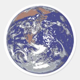 惑星の地球 ラウンドシール