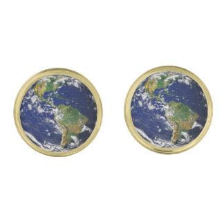 惑星の地球(太陽系)の~ ゴールド カフスボタン