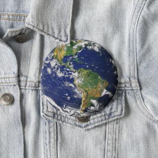 惑星の地球 10.2CM 丸型バッジ