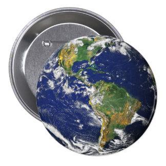 惑星の地球 7.6CM 丸型バッジ