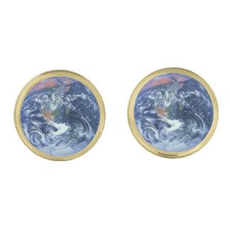 惑星の地球v2 (太陽系)の~ ゴールド カフスボタン