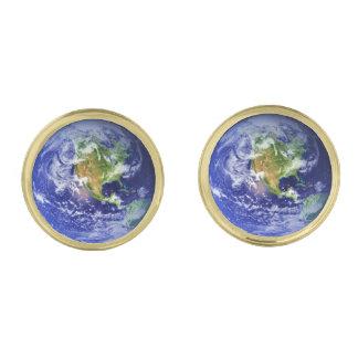 惑星の地球v3 (太陽系)の~ ゴールド カフスボタン