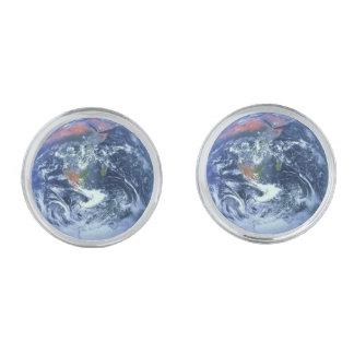 惑星の地球v.2 (太陽系)の~ Ke シルバー カフスボタン