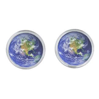 惑星の地球v.3 (太陽系)の~ シルバー カフスボタン