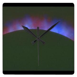 惑星の大気。 (planet_Space場面 スクエア壁時計