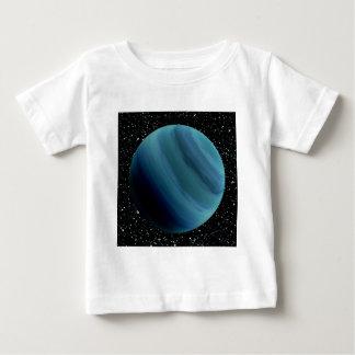 惑星の天王星の星の背景(太陽系)の~~ ベビーTシャツ