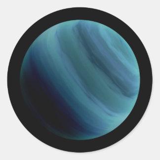 惑星の天王星の自然な(太陽系) ~~ ラウンドシール