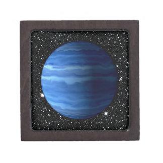 惑星の天王星v.2の星の背景(太陽系)の~ ギフトボックス