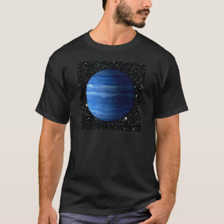 惑星の天王星v.2の星の背景(太陽系)の~ tシャツ