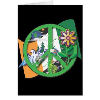 惑星の平和アイルランド カード