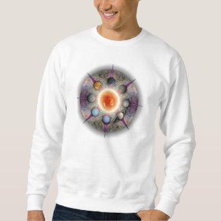 惑星の曼荼羅の基本的なスエットシャツ スウェットシャツ
