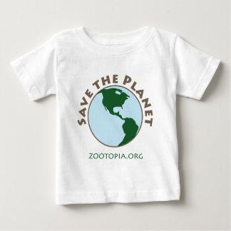 惑星の服装を救って下さい ベビーTシャツ