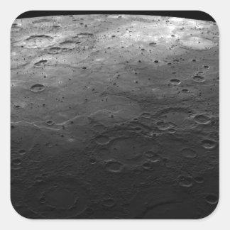 惑星の水星の大きい噴火口 スクエアシール