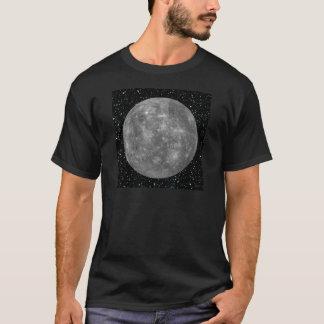 惑星の水星の星の背景(太陽系)の~ Tシャツ