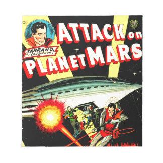 惑星の火星の攻撃 ノートパッド