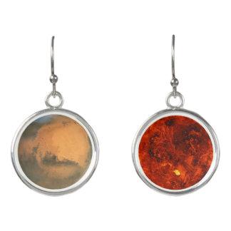 惑星の火星及び金星 イヤリング
