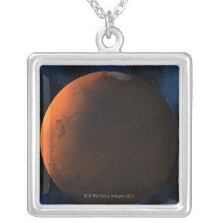 惑星の火星 シルバープレートネックレス
