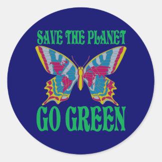 惑星の環境にやさしいことをしようを救って下さい ラウンドシール
