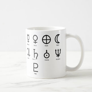 惑星の記号 コーヒーマグカップ