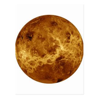 惑星の金星のレーダーの眺め(太陽系)の~~~ ポストカード