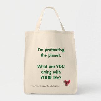 惑星の食料雑貨のトートの保護 トートバッグ
