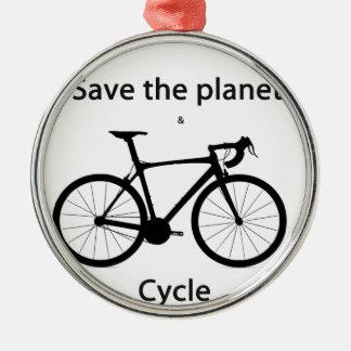惑星を救い、循環させて下さい メタルオーナメント