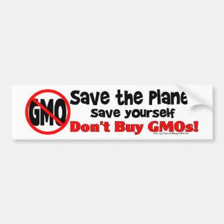 惑星を救って下さい、あなた自身を救って下さい: GMOsを買わないで下さい! バンパーステッカー