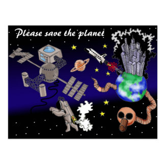 惑星を救って下さい ポストカード