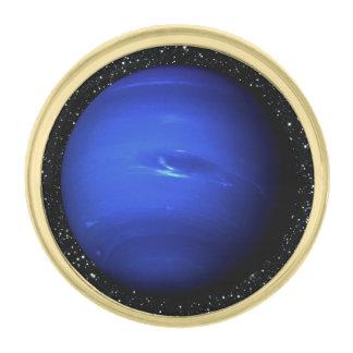 惑星ネプチューン星の背景2 (太陽系) ~. 金色 ラペルピン