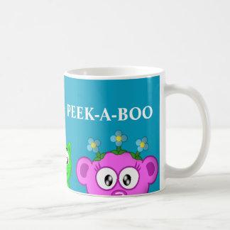 惑星ピーカーブ式PEACE-LOVE及びピーカブー コーヒーマグカップ