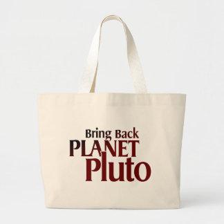惑星プルートを持ち帰って下さい ラージトートバッグ