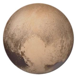 惑星プルート-ハートを持って下さい! (太陽系の) ~ ディナープレート