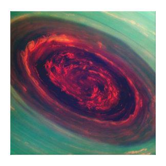 惑星土星の巨大で赤い嵐 キャンバスプリント