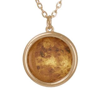 惑星金星 ゴールドプレートネックレス