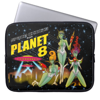 惑星8のラップトップの箱からの宇宙のひよこ ラップトップスリーブ