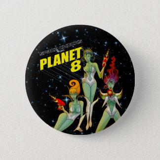 惑星8ボタン1からの宇宙のひよこ 5.7CM 丸型バッジ