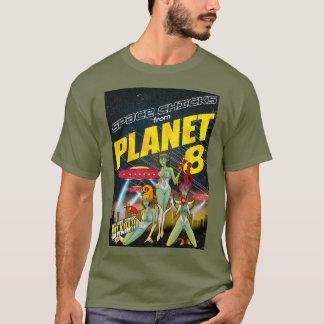 惑星8_full色からの宇宙のひよこ tシャツ