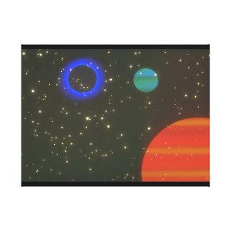 惑星。 (惑星; 宇宙; stars_Space場面 キャンバスプリント